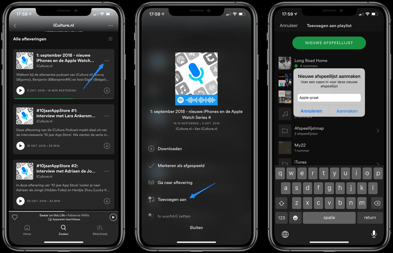 Spotify Podcast afspeellijst