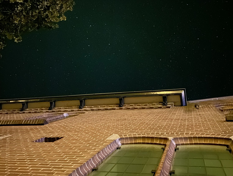 Nachtfoto iPhone 11 Pro met sterrenhemel