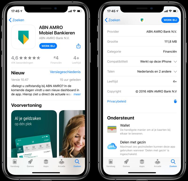 ABN AMRO-app Wallet in de App Store.