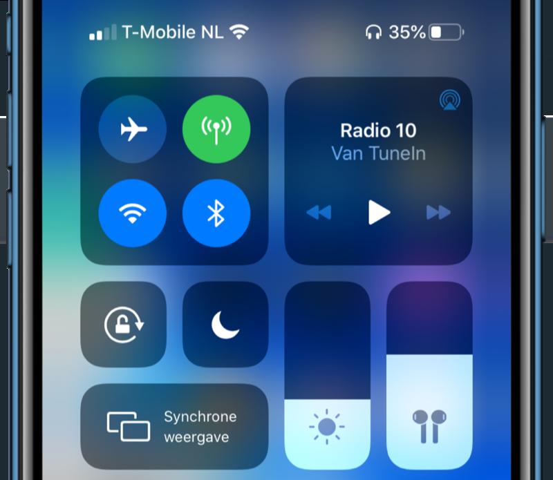 iOS 13.2 volume icoontje.