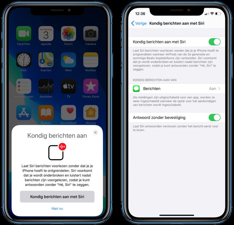 Kondig berichten aan in iOS 13.2.