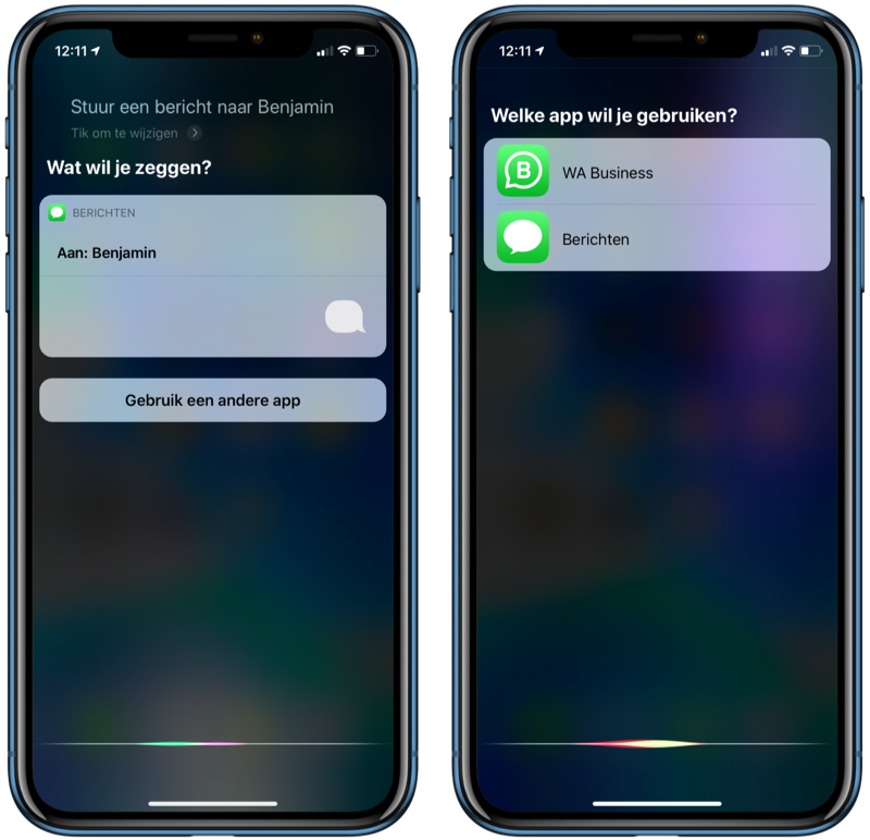 iOS 13.2: Siri met chat-apps.