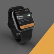 Verwijzing naar Slaap-app op Apple Watch.
