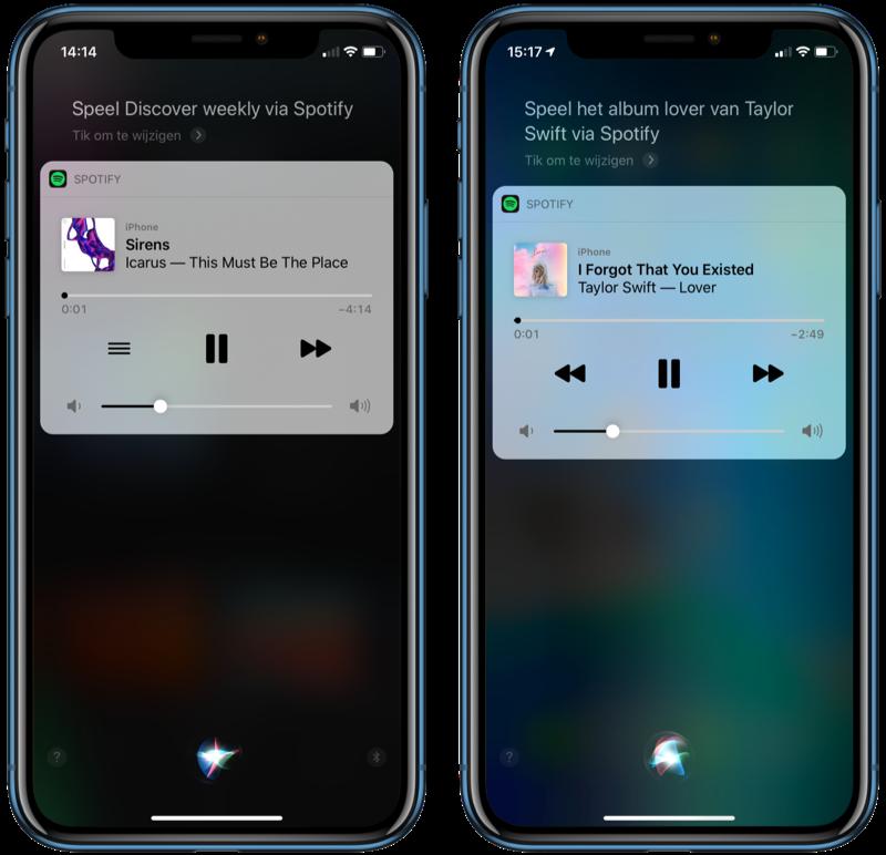 Spotify met Siri commando.
