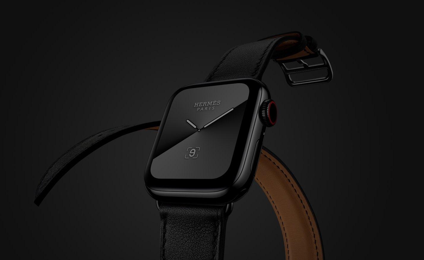 Apple Watch Hermes in zwart