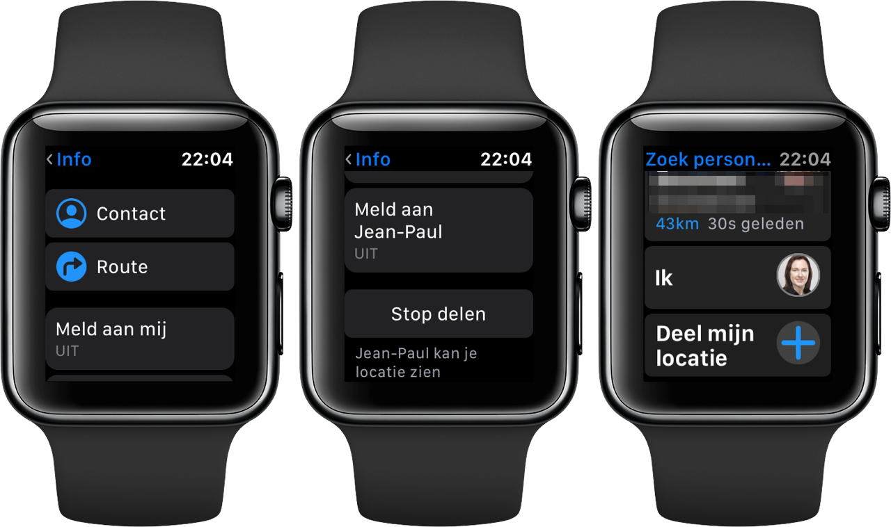 Zoek Personen op Apple Watch