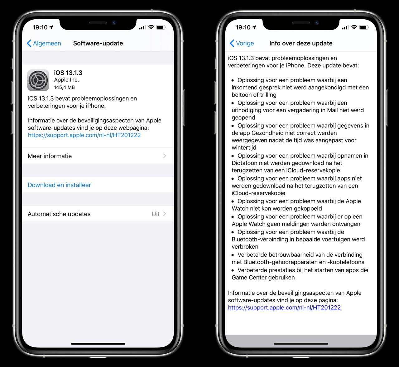 iOS 13.1.3 releasenotes