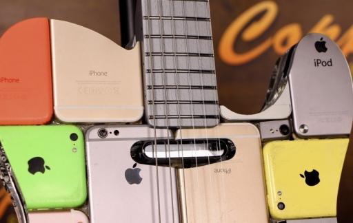 Gitaar van iPhones