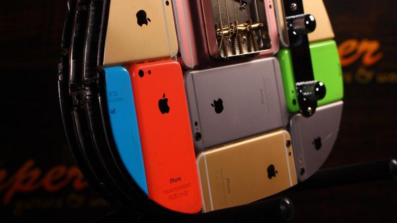 Gitaar van iPhones gemaakt