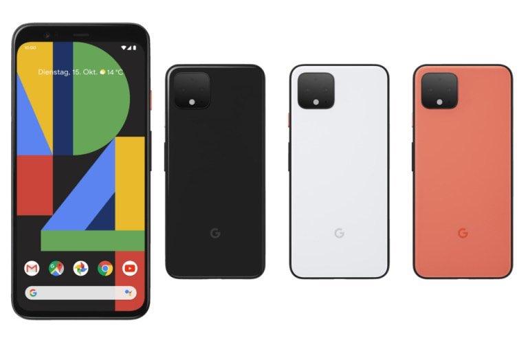 Pixel 4: beschikbare kleuren
