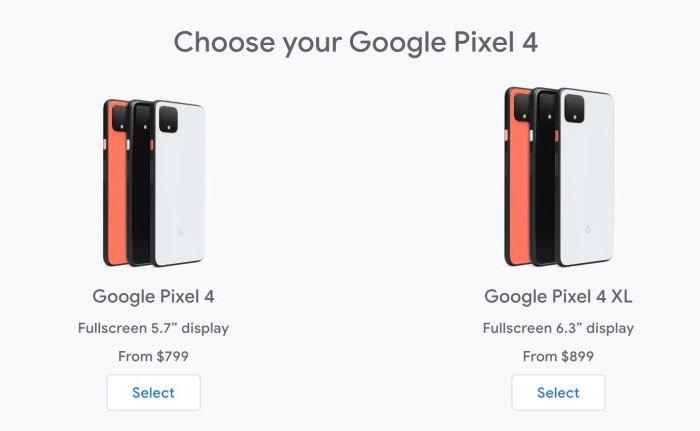 Pixel 4 vs iPhone 11 Pro: prijs