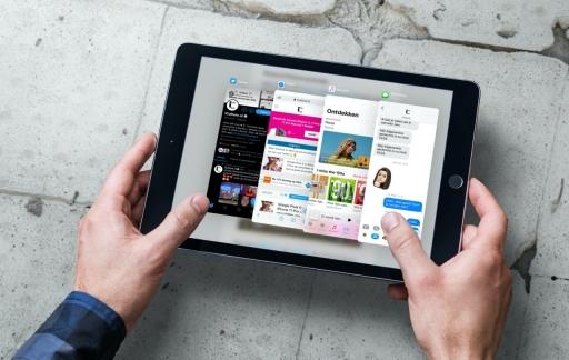 iPad Slide Over overzicht.