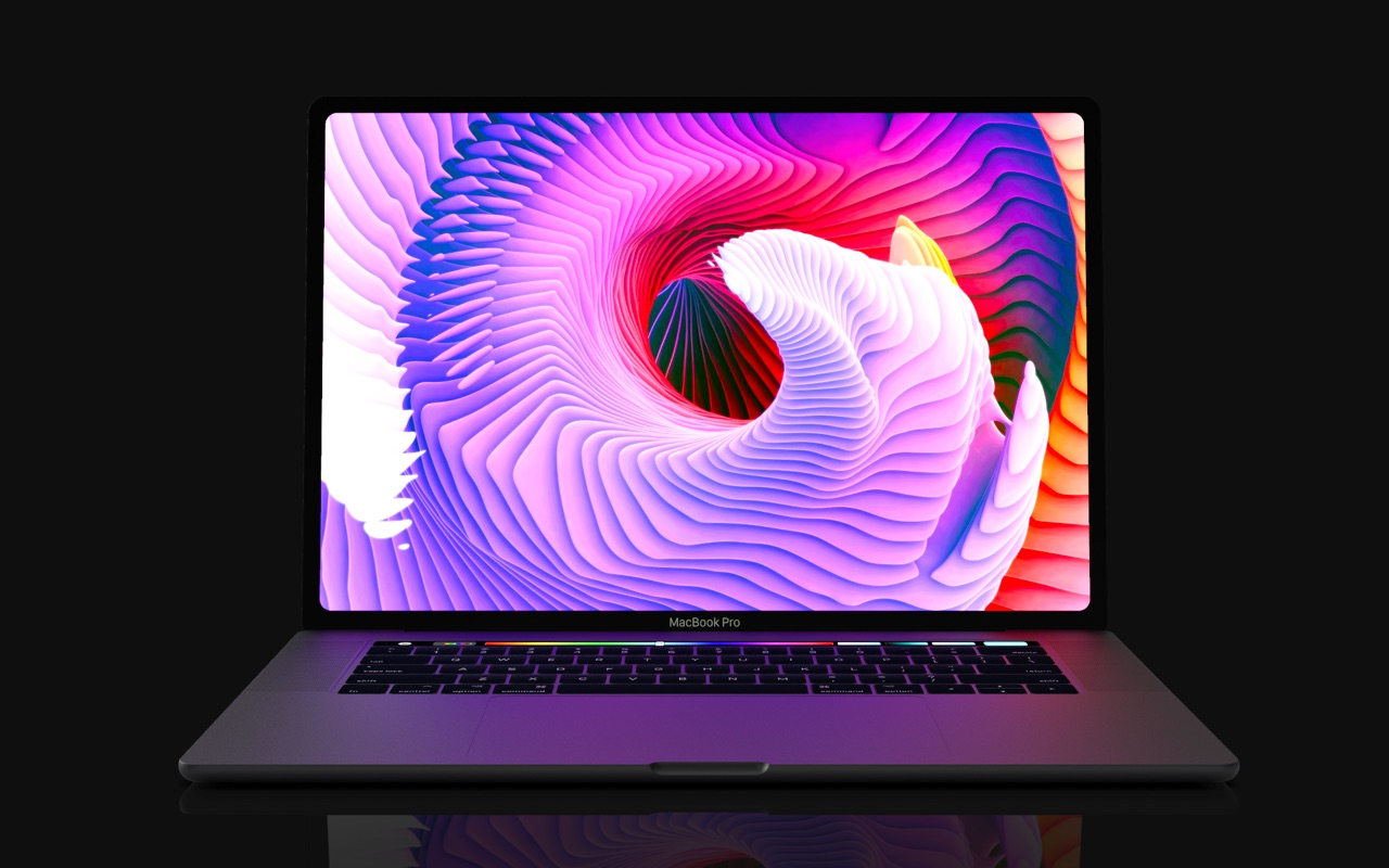 MacBook Pro 16-inch concept van scherm.