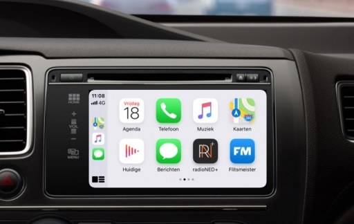 CarPlay beginscherm in iOS 13.