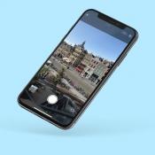 Zie meer van de omgeving bij foto's met Bekijk buiten het kader op iPhone