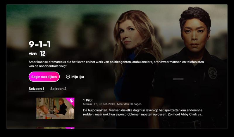 VTM GO op Apple TV met programma kijken.