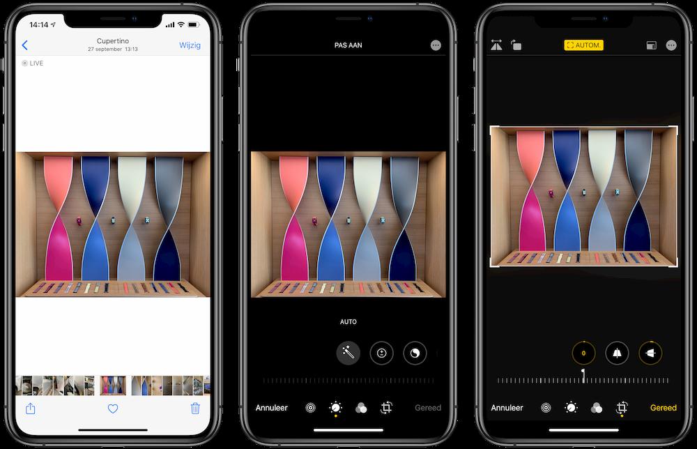 Automatische perspectiefcorrectie iPhone