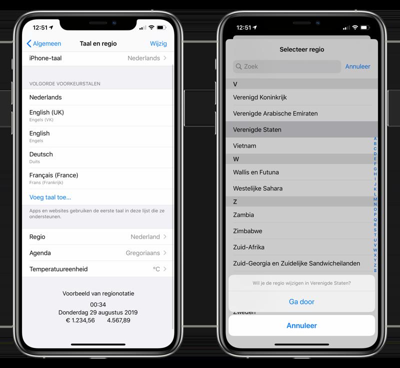 Apple News: regio wijzigen