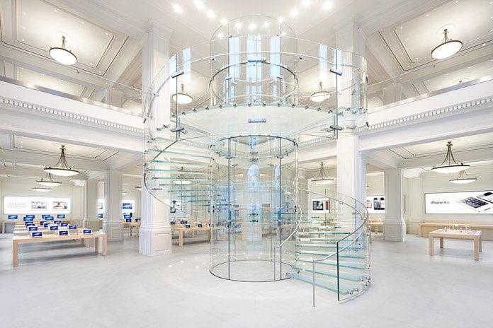 Apple Amsterdam glazen trap
