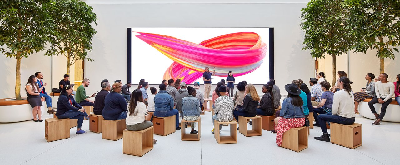 Apple video wall