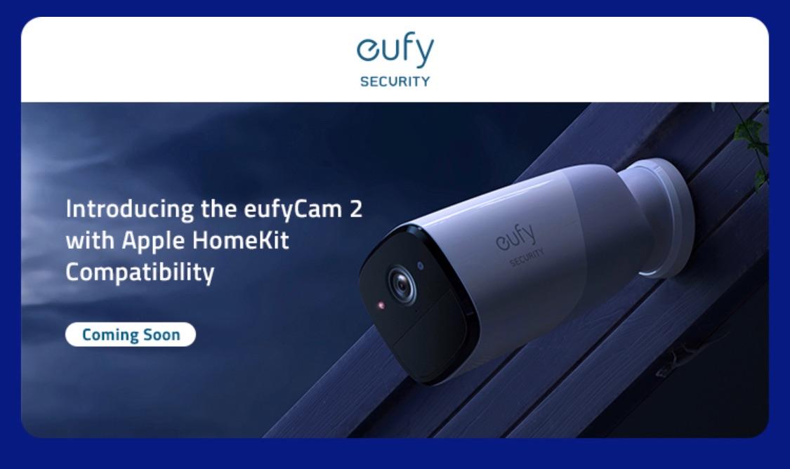 EufyCam 2 van Anker met HomeKit.