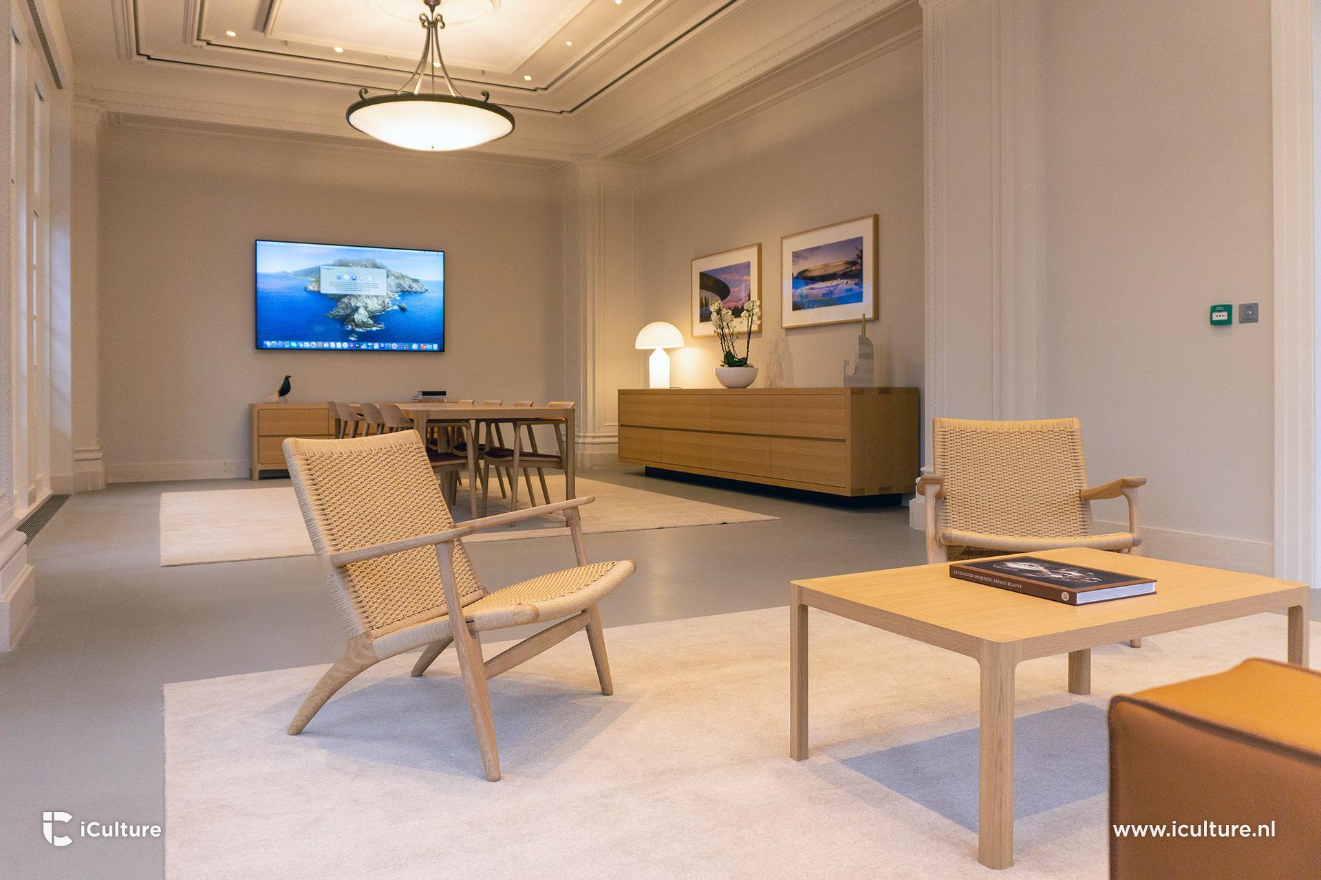 De boardroom in de Apple Store Amsterdam is bedoeld voor zakelijke klanten.