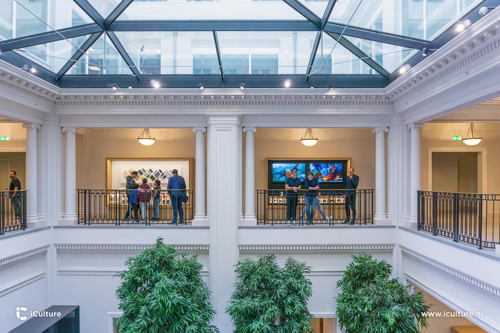 Eerste etage boven het Forum in Apple Store Amsterdam.
