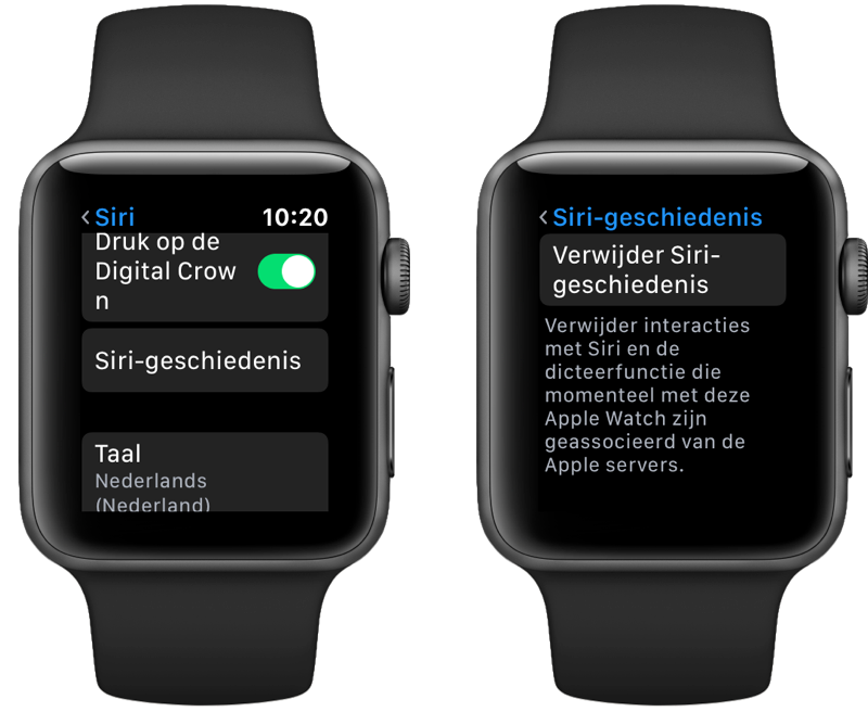 Siri opnames wissen van Apple Watch.
