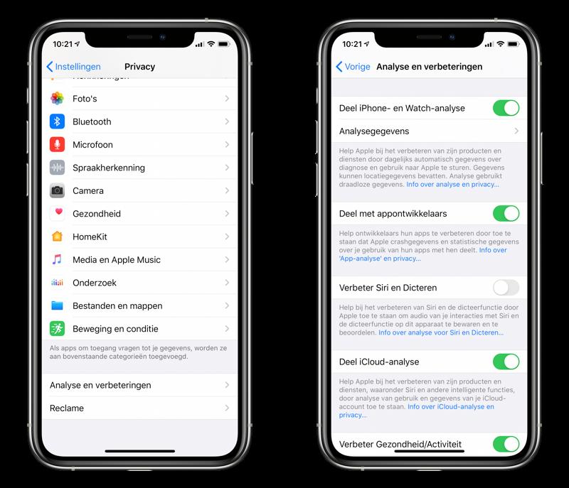 Stoppen met audio delen en Siri verbeteren op iPhone.