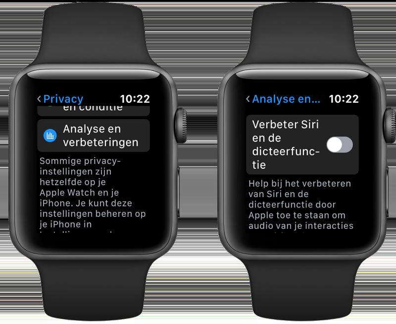 Stoppen met audio delen en Siri verbeteren op Apple Watch.