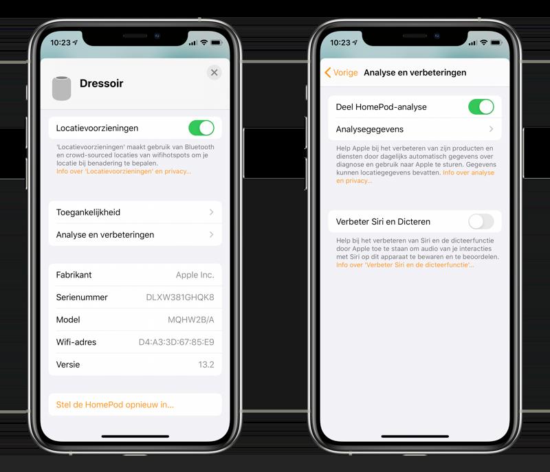 Stoppen met audio delen en Siri verbeteren op HomePod.