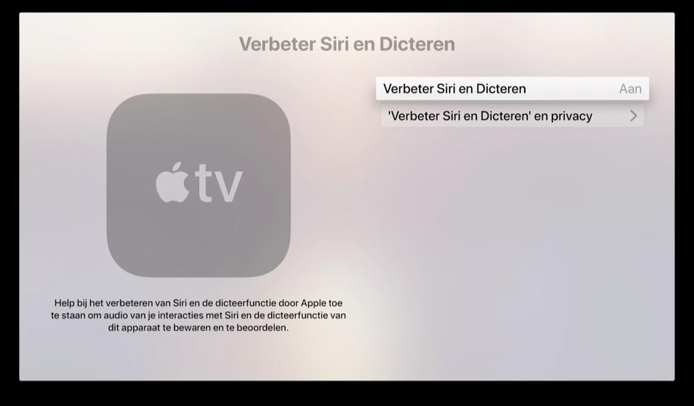Stoppen met audio delen en Siri verbeteren op Apple TV.