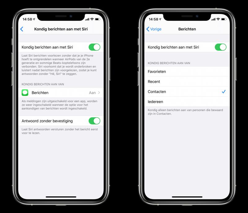 Siri berichten voorlezen via AirPods.