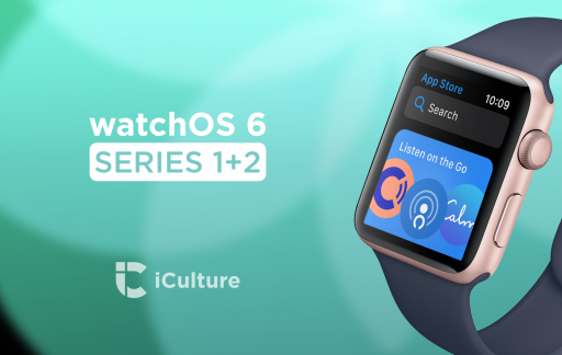 watchOS 6 op de Series 1 en Series 2.