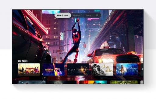 Televisie met Apple TV-app.