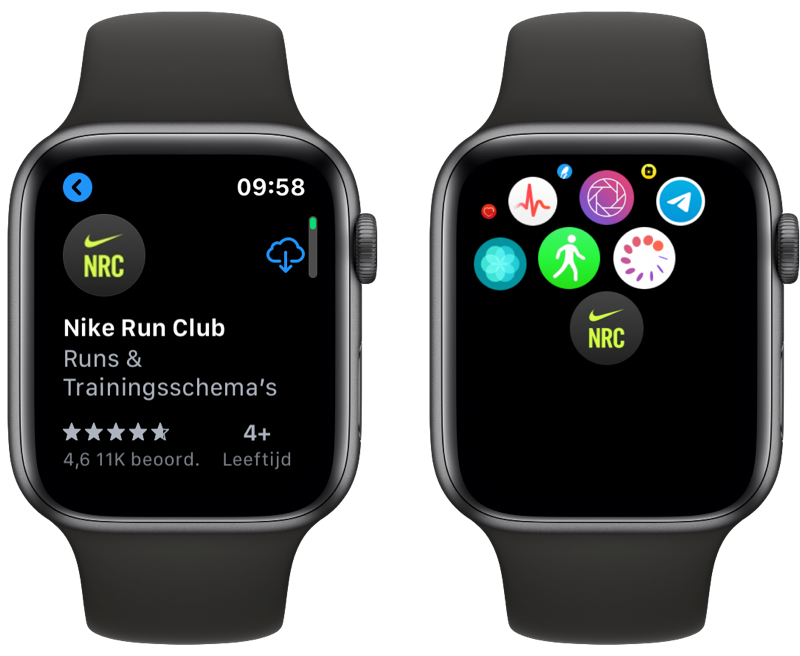 Nike Run Club op Apple Watch downloaden.