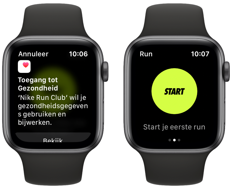 Nike Run Club op Apple Watch instellen.