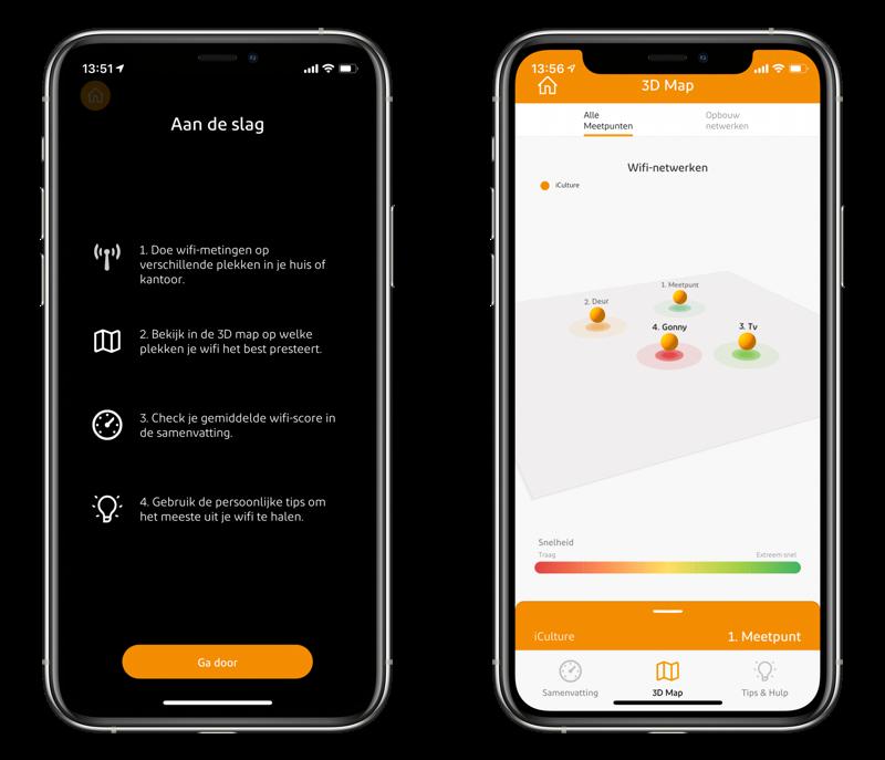 Ziggo Wifi Assistant app met augmented reality.
