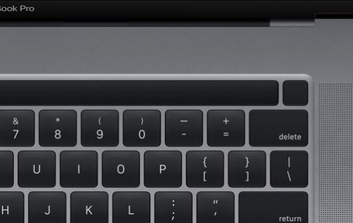 MacBook Pro 16-inch met Touch ID knop