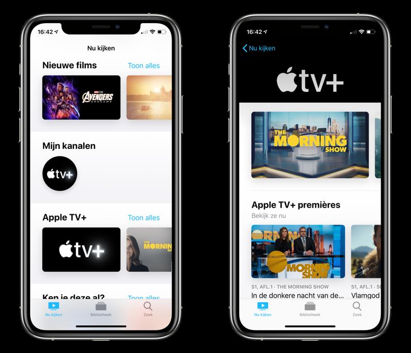 Apple TV+ kanaal overzicht.