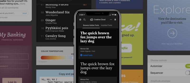 Creative Cloud Mobile lettertypen