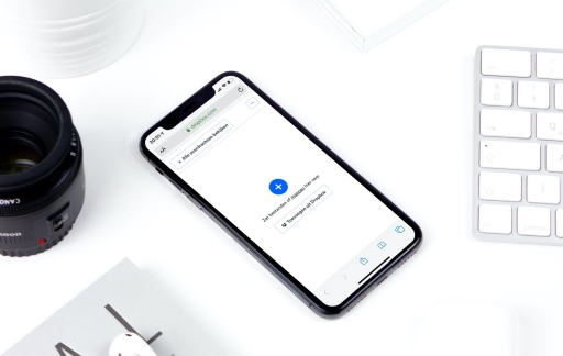 Dropbox Transfer op iPhone.