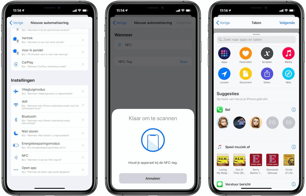 NFC-tags maken iPhone