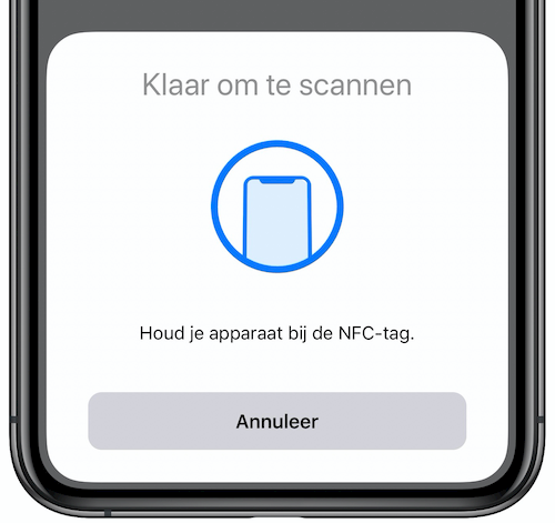NFC-tag scannen