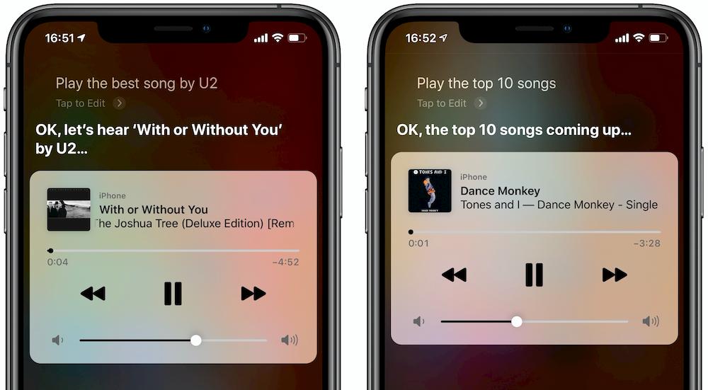 Muziek commando's Siri