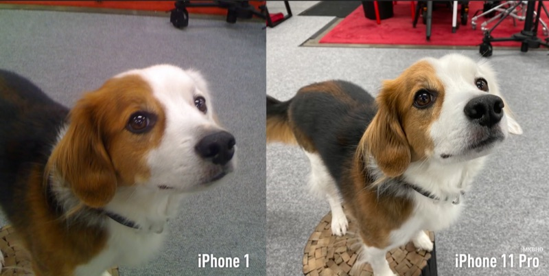 Originele iPhone vs iPhone 11 Pro camera.