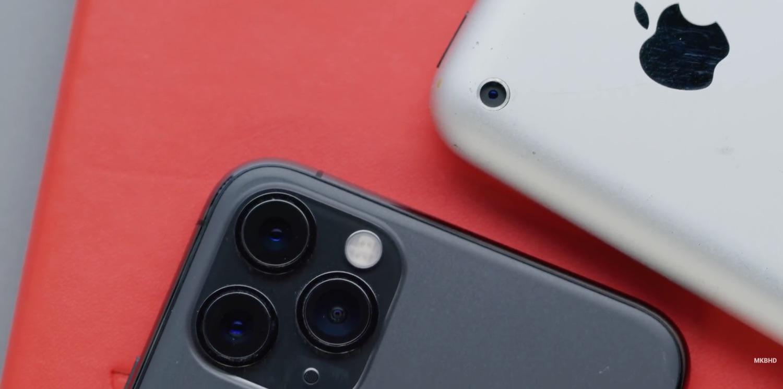 Originele iPhone vs iPhone 11 Pro.