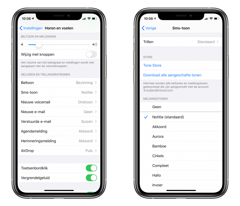 Geluid voor meldingen instellen op iPhone (waarschuwingstonen)