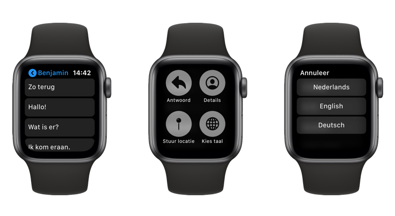 Apple Watch antwoorden taal wisselen