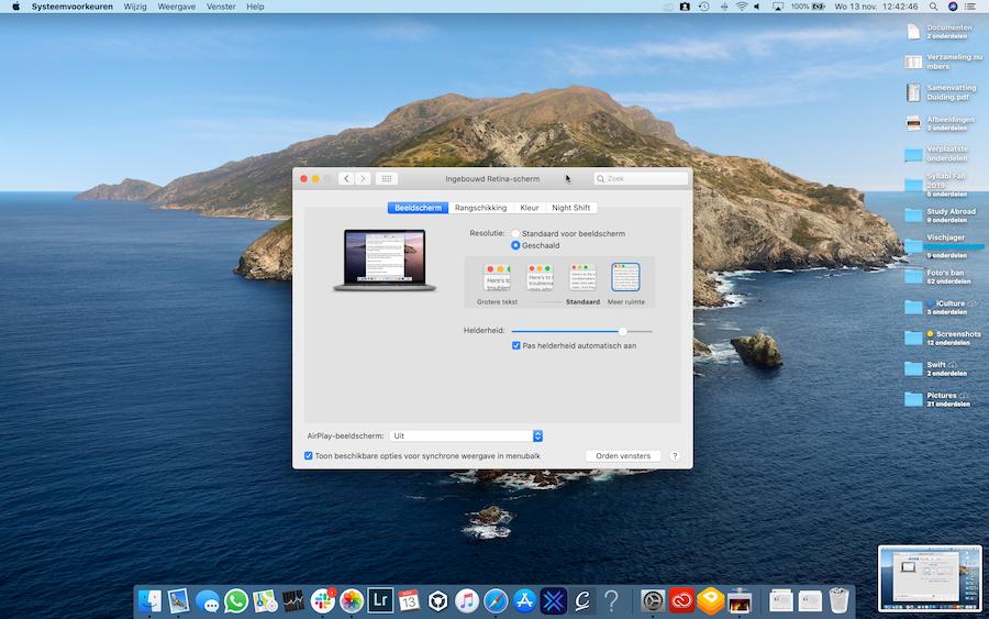 Screenshot kleine tekst Mac